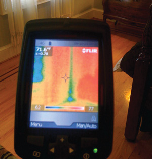 Infrared Camera can reveal air leaks in Spring Valley